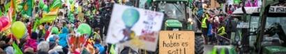 Agrarwende anpacken, Klima schützen! Wir haben es satt!-Demo am 18.01.2020 in Berlin — Wir haben Agrarindustrie satt!